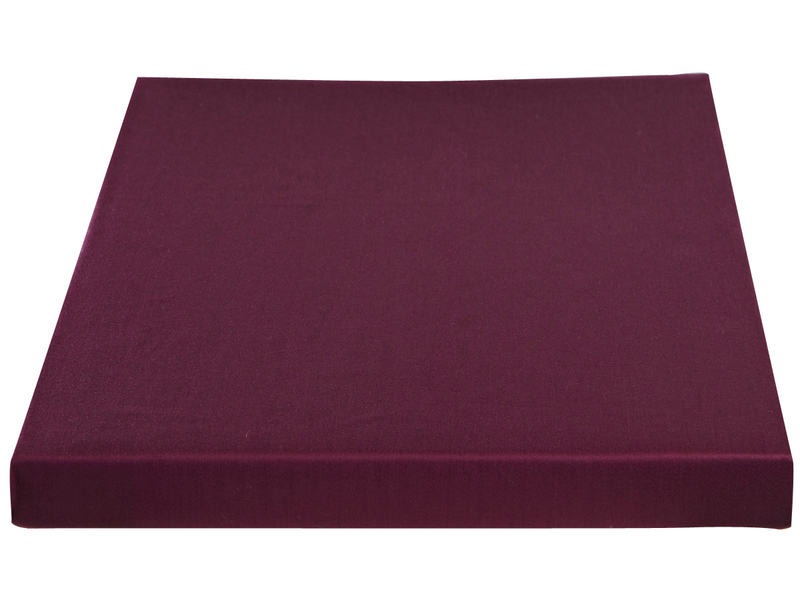 Drap-housse SATIN LOTUS 180x200cm violet