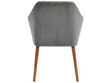 Chaise POMME velours gris clair