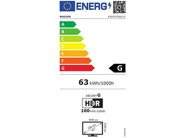 Télévision LED PHILIPS 43''/109cm - 43PUS7506/12