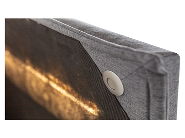 Boxspring CRANS MONTANA 140x200cm anthracite