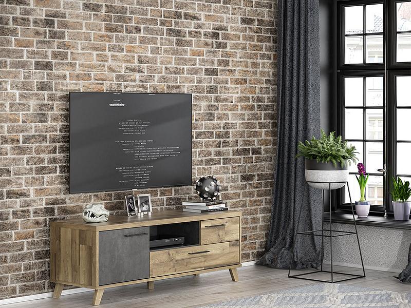 Meuble TV RICCIANO béton