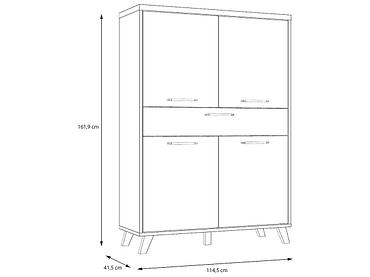 Highboard RICCIANO 114.5x41.5x161.9cm