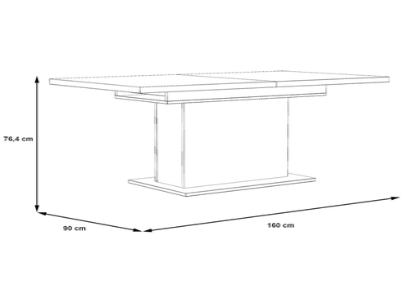Table extensible RICCIANO 160-200x90x76.4cm