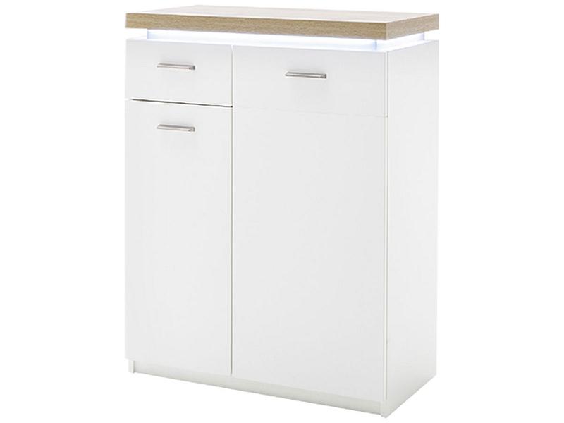Commode CALVI 2 portes 1 tiroir blanc