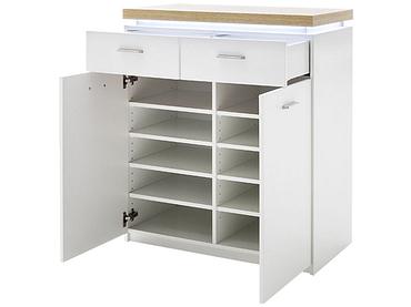 Commode CALVI 2 portes 2 tiroirs blanc