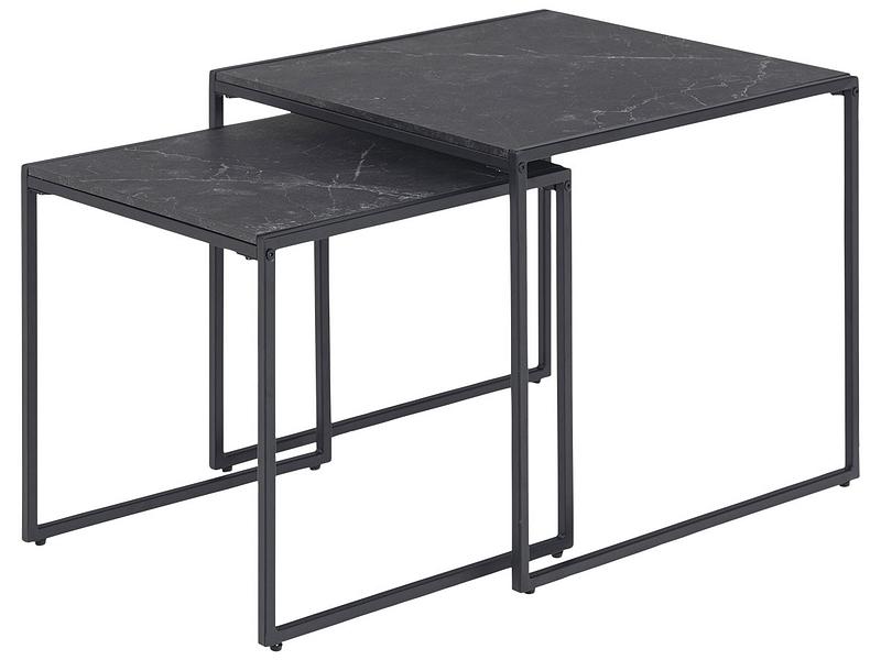 Set tables gigognes INFINITY noir