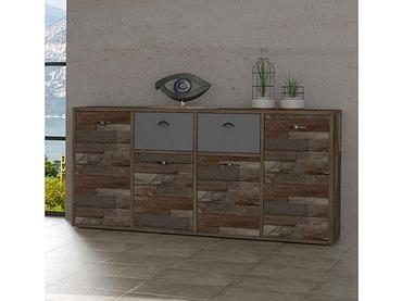 Sideboard KERK 4 portes 2 tiroirs bois