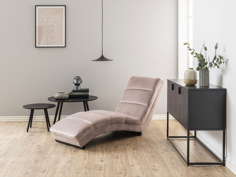 Fauteuil relax CHARM tissu rose