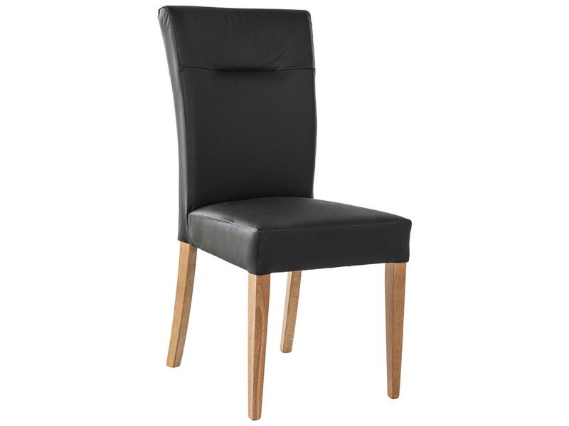 Chaise BILBAO cuir véritable noir