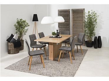 Chaise FRIDA tissu gris
