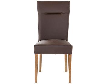 Chaise BILBAO cuir véritable brun