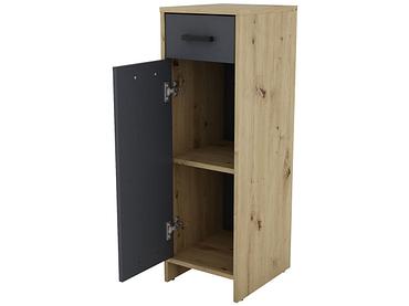 Badezimmer-Aufbewahrungssäule BOLTON Artisan Eiche