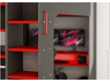 Lit mezzanine MSPACE 120x200cm noir