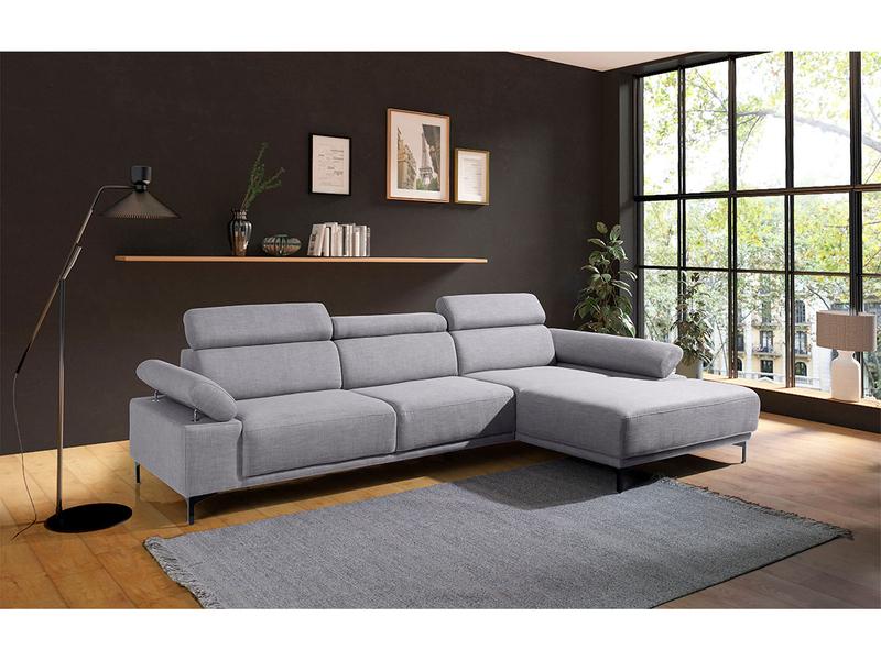 Canapé d'angle SIMON gris
