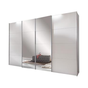 Schrank MAGMA 4 Türen weiss, grau