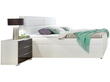 Lit NANCY 160x200cm décor blanc