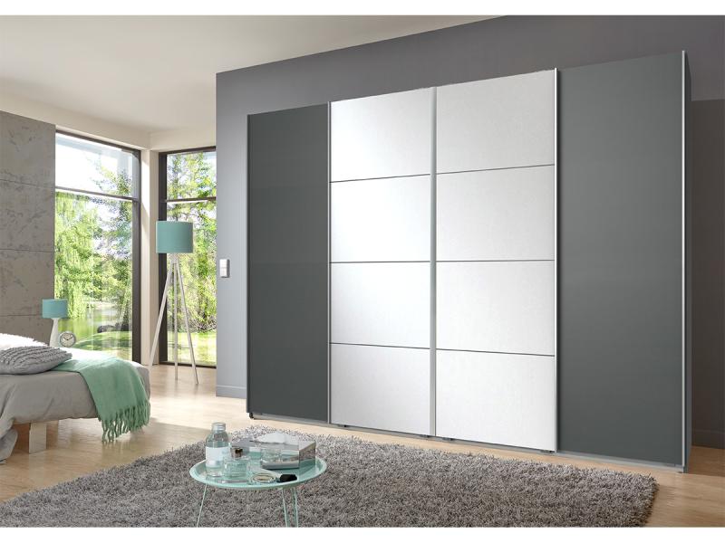 Armoire MAGMA 4 portes graphite