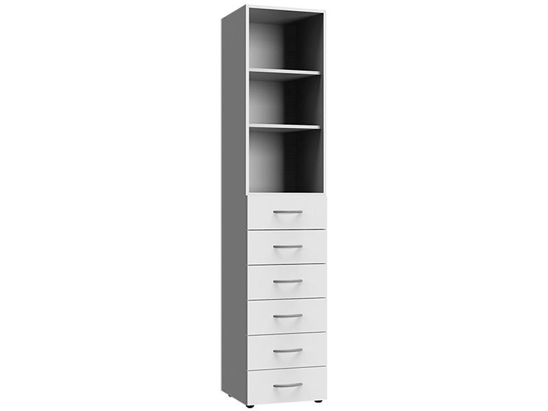 Corps armoire MODUL 6 tiroirs blanc