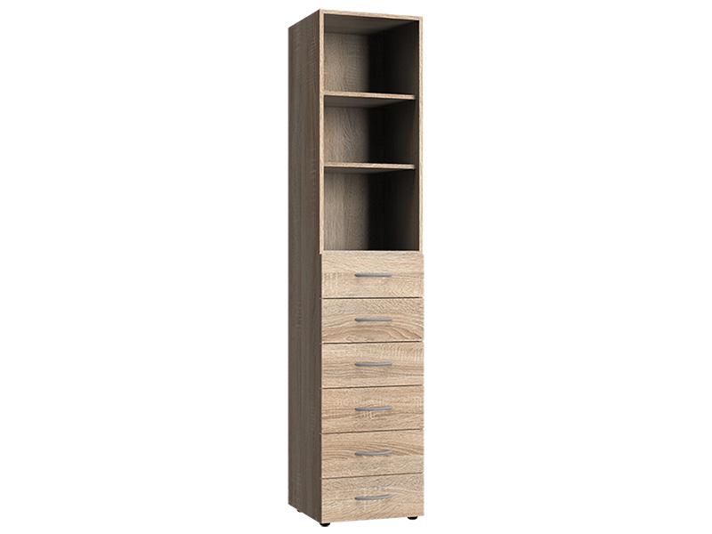Corps armoire MODUL 6 tiroirs chêne