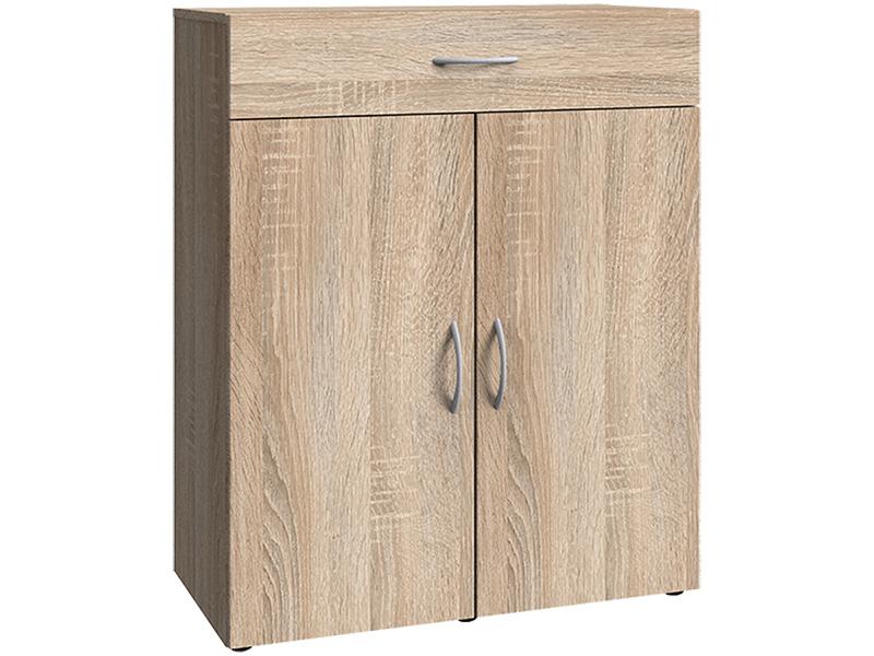 Commode MODUL 2 portes battantes 1 tiroir chêne