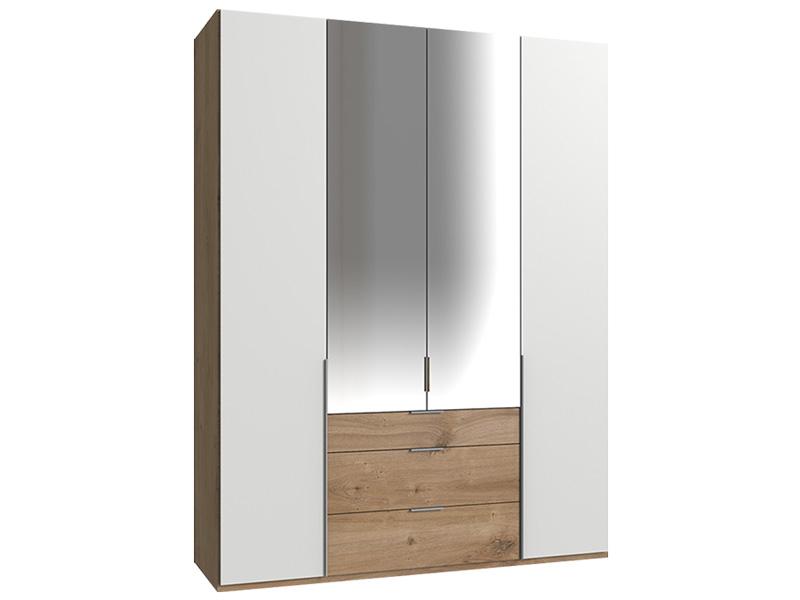 Armoire NEVA 4 portes 2 tiroirs chêne