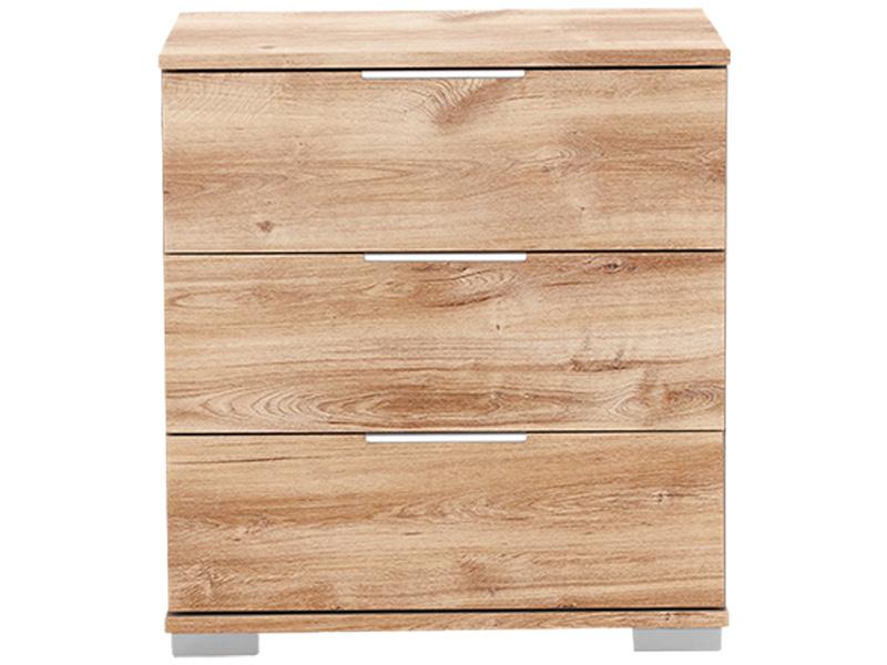 Chevet NEVA 3 tiroirs chêne