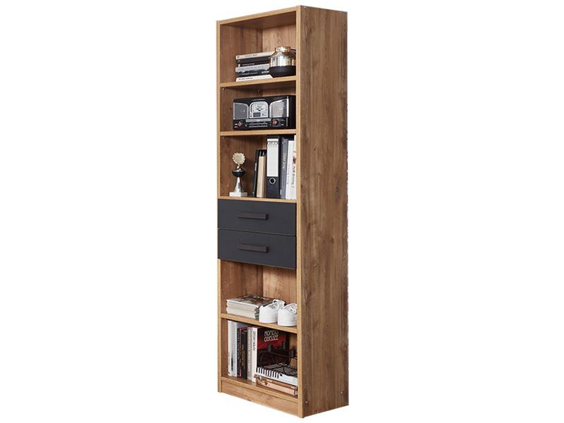 Bibliothèque LIVERPOOL chêne 5 cases