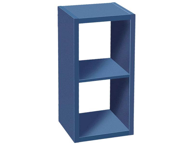 Étagère CUB BLUE 2 cases 1 tablar