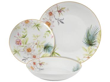 Set vaisselle SAKURA 18 pièces 6 personnes porcelaine
