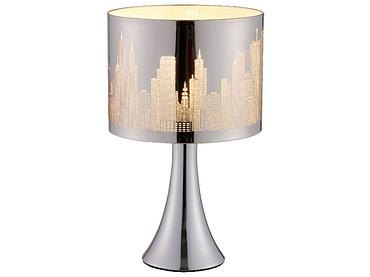 Tischlampe LED BUILDI 18.5cm 29cm 40W silberfarben