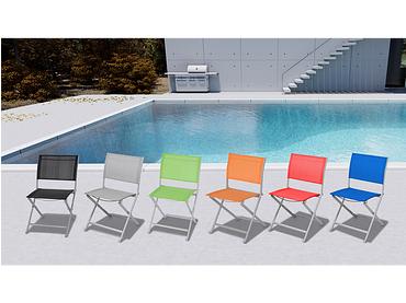 Chaise de jardin COLOR aluminium vert