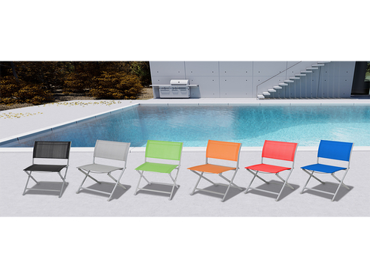 Chaise de jardin COLOR aluminium orange