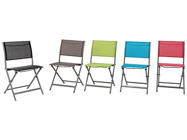 Chaise de jardin COLOR aluminium gris clair