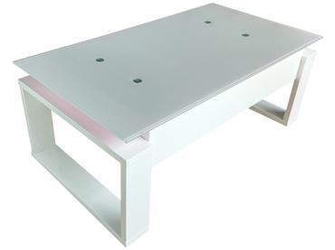 Table basse CLARA blanc