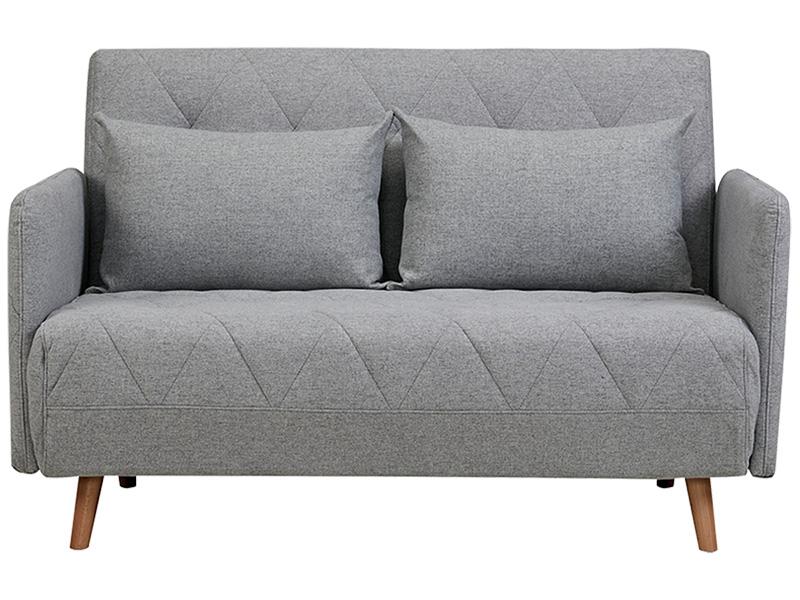 Banquette-lit VARDO tissu gris clair 90x132x81cm