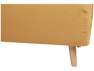 Banquette-lit NEILS tissu jaune 90x141x81cm
