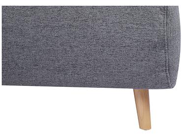 Banquette-lit NEILS tissu gris foncé 90x141x81cm