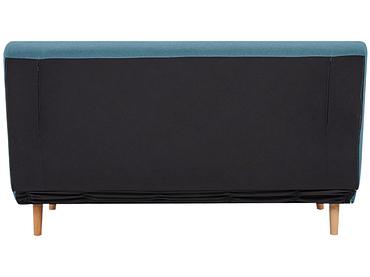 Banquette-lit NEILS tissu bleu 90x141x81cm