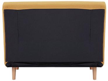 Banquette-lit NEILS tissu jaune 90x101x81cm