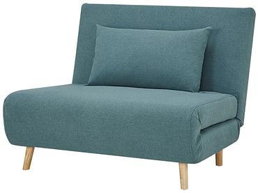 Banquette-lit NEILS tissu bleu 90x101x81cm