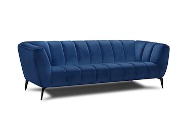 Canapé 3 places MANSON tissu bleu