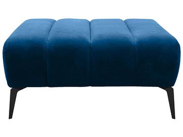 Pouf MANSON 92x92x39cm tissu bleu