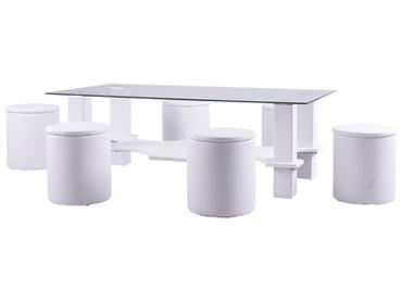 Table basse STOOL transparent
