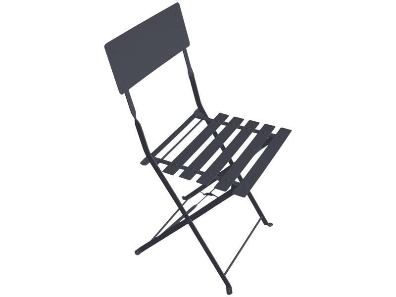 Chaise de jardin BARCELONA acier inoxydable gris anthracite