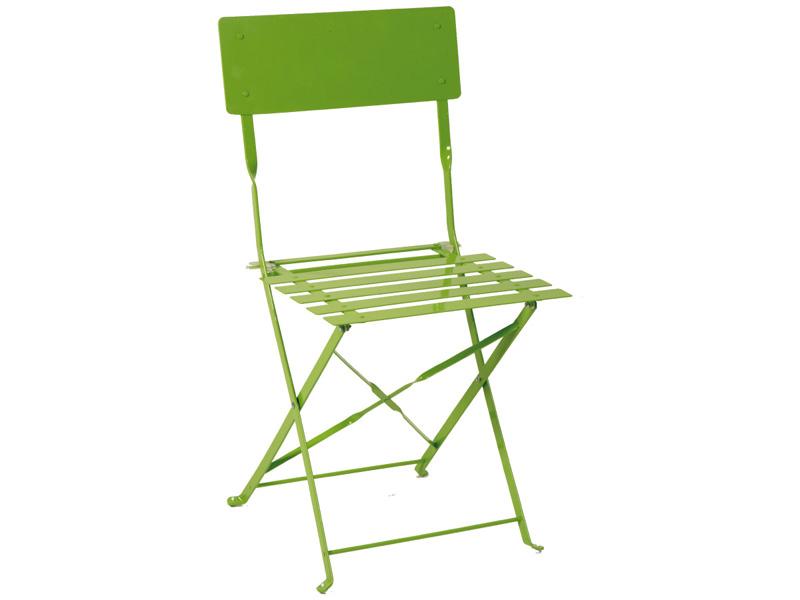 Chaise de jardin BARCELONA acier inoxydable vert