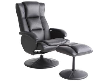 Fauteuil relax ROMY cuir synthétique noir