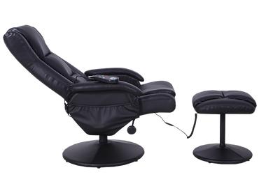 Relaxsessel WELLNESS Synthetisches Leder schwarz
