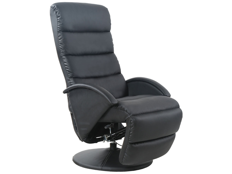 Fauteuil relax TV cuir synthétique noir