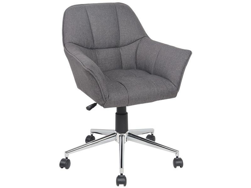 Chaise de bureau CONNY gris foncé