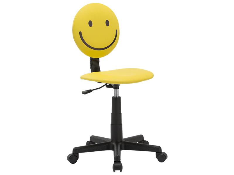 Chaise de bureau SMILEY jaune